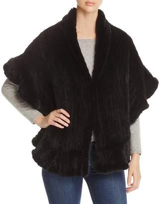 Maximilian Furs Knitted Mink Ruffled Stole