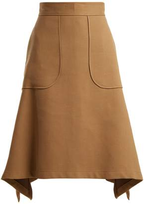 See by Chloe City cotton-blend midi skirt