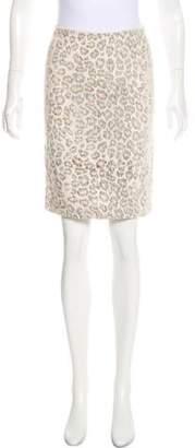 Raquel Allegra Printed Linen Mini Skirt