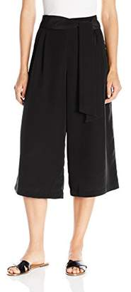 Paris Sunday Women's Standard Wide Leg Pant with Sash