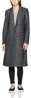 Only Women's Onlhella Long Wool Coat OTW Dark Grey Melange