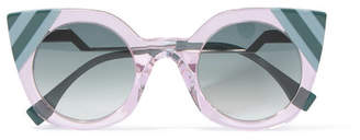 Fendi Cat-eye Acetate Sunglasses - Blue