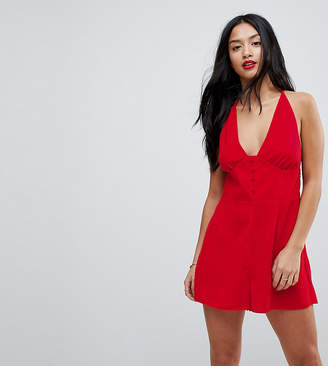 Asos Romper with Button Front Detail