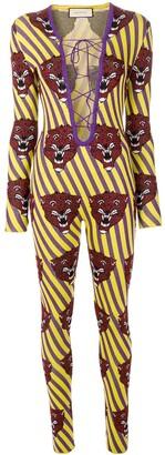Gucci tiger face jumpsuit