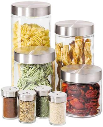 Oggi Canisters & Spice Jars, Glass 8 Piece Set