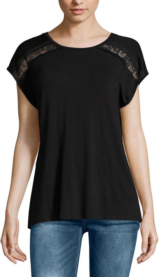 BUFFALO JEANS Buffalo Jeans Short Sleeve Round Neck T-Shirt-Womens