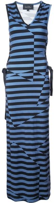 Nicole Miller illusion stripe maxi dress
