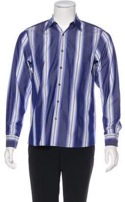 Michael Kors Woven Striped Shirt