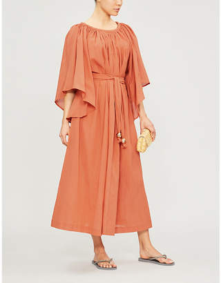 Lisa Marie Fernandez Angel-sleeve cotton maxi dress