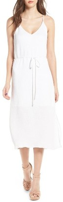 Women's J.o.a. Tie Waist Midi Dress $69 thestylecure.com