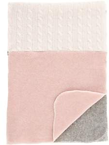 Agua Patchwork Cashmere Baby Blanket - Pink