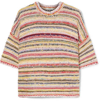 Ganni Brookhaven Striped Knitted Sweater - Ivory