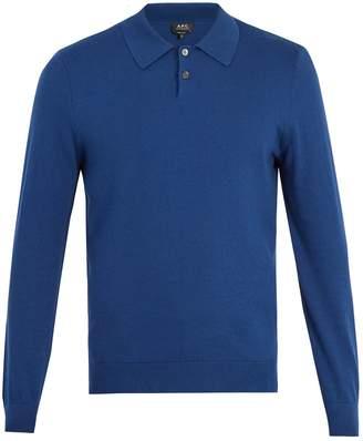 A.P.C. Michel cotton-blend polo sweater