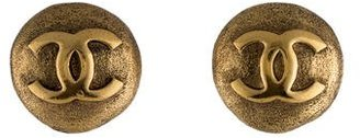 Chanel CC Button Earrings $225 thestylecure.com