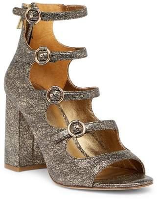 Joie Laina Metallic Leather Block Heel Sandal