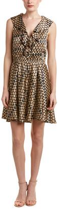 Nanette Lepore Ruffle Silk A-Line Dress