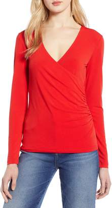 Halogen Surplice Knit Top