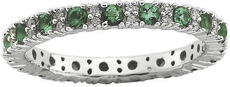 JCPenney FINE JEWELRY Personally Stackable Diamond-Accent Lab-Created Emerald Ring