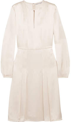 Stella McCartney Pleated Satin Dress - Ecru