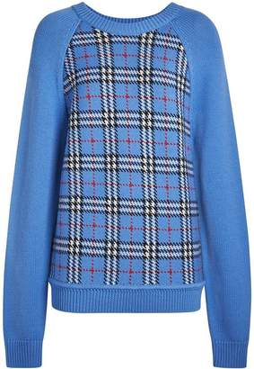 Burberry Check Wool Jacquard Sweater
