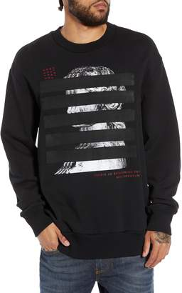 Diesel R) S-BAY-YB Webbed Graphic Sweatshirt