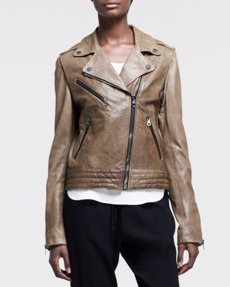 Rag & Bone Bowery Leather Motorcycle Jacket
