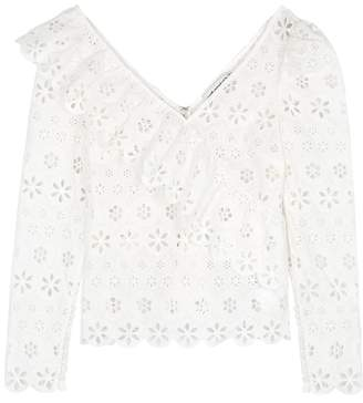 Self-Portrait Self Portrait White Broderie Anglaise Top