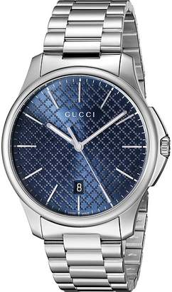 Gucci G-Timeless Large Blue Dial Steel Bracelet