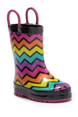 Western Chief Funny Rainbow Stripe Boot (Toddler)