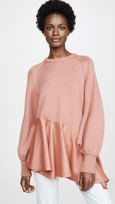 ADEAM Asymmetrical Ruffle Sweater