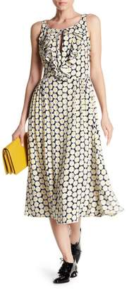 Love Moschino Floral Printed Ruffle Midi Dress