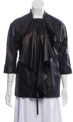 Marni Leather Draped Jacket