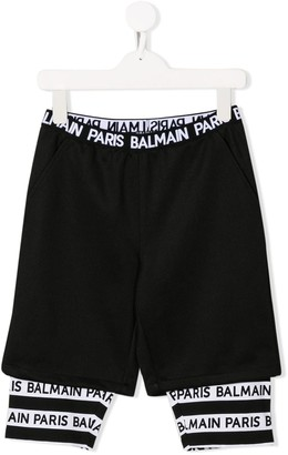 Balmain Kids double-layer shorts