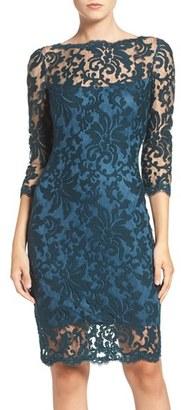 Women's Tadashi Shoji Embroidered Lace Sheath Dress $268 thestylecure.com
