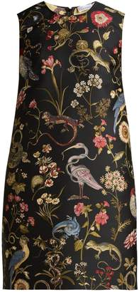 RED Valentino Floral-jacquard shift dress