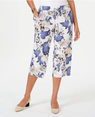 JM Collection Floral-Print Pull-On Capris