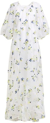 Cecilie Bahnsen - Maggie Floral Embroidered Organza Dress - Womens - White Multi