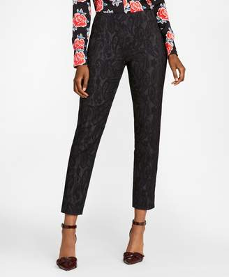 Brooks Brothers Paisley Jacquard Ankle Pants