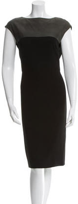 Rachel Roy Leather-Accented Sheath Dress $95 thestylecure.com