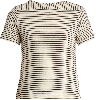A.P.C. Malia striped cotton-blend jersey top $88 thestylecure.com