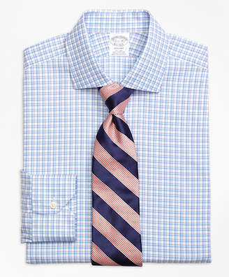 Brooks Brothers Regent Fitted Dress Shirt, Non-Iron Bold Shadow Check