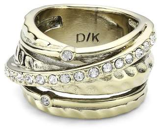 Dyrberg/Kern Women's Ring in Brass and Crystal - 332753