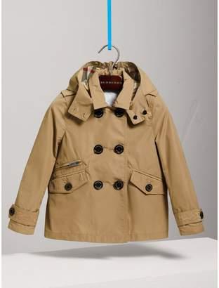 Burberry Detachable Hood Shape-memory Taffeta Trench Coat