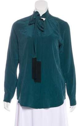 Equipment Silk Long Sleeve Blouse