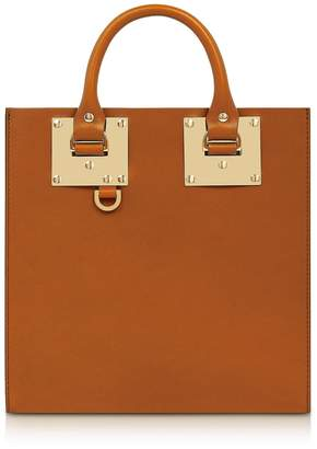 Sophie Hulme Tan Albion Square Leather Tote