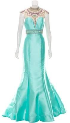 Mac Duggal Embellished Evening Dress w/ Tags