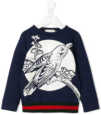Gucci Kids bird print sweatshirt