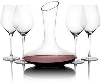 5 Piece Wine Glass & Decanter Set