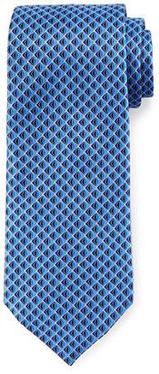 Ermenegildo Zegna 3D Diamond Neat Silk Tie, Blue $195 thestylecure.com