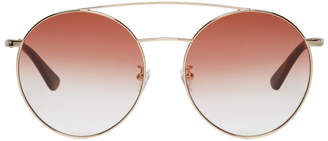 McQ Gold and Pink MQ0147 Sunglasses